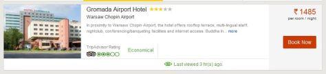 Przykładowa cena hotelu bez znizki.